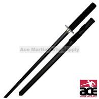Stealth Black Ninja Sword with Classic Square Guard