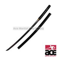 Kill Bill O Ren Ishii Handmade replica katana. Carbon steel blade. Black wood scabbard. Sharpened.