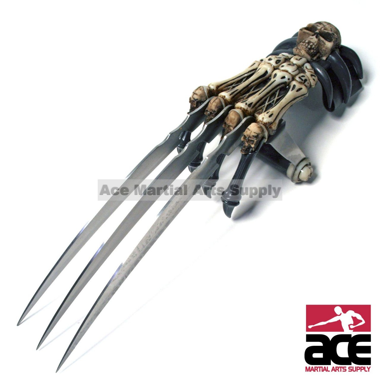 ZOMBIE GEAR SKULL BONE TRI-BLADED WOLVERINE HAND CLAW in ...
