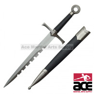"""14.75"""" Medieval Dagger With Circle Pommel"""