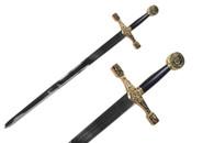 "43"" Excalibur Sword Gold With Plaque"