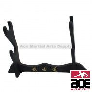 2 Piece Black Wooden Table Stand
