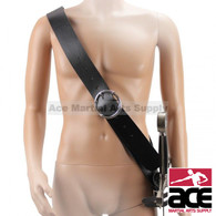 "58"" Black Leather Waist Hanger Sword Frog Baldric Belt SCA Brand New"