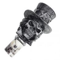 """34"""" Skull Handle Steel Walking Stick Gentleman's Cane"""