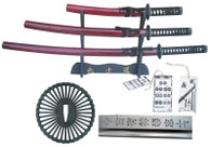 Musashi Last Samurai Handmade Japanese Katana Sword Set Sharp