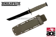 """6"""" Tanto Green Neck Knife With Sheath"""
