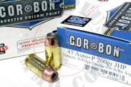 Surplus Ammo 45 ACP 200 Grain JHP +P CORBON Self Defense Pistol Ammunition Jacketed Hollow Point 45ACP Auto