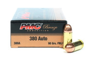 Surplus Ammo, Surplusammo.com 380 Auto 90 Grain FMJ PMC Bronze Ammunition