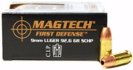 Surplus Ammo | Surplusammo.com 9mm 92.6 Grain SCHP Magtech First Defense Ammunition