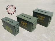 "Ammo Can Caliber Variety Set of 3 - One 30 Cal, 50 Cal, & 50 Cal Fat Grade ""A"" Military Surplus, Lockable, Steel"