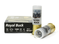 "Surplusammo.com | Surplus Ammo 12 Gauge Rio Buck #4 Buckshot 2 3/4"" Shotgun Shot Shell Ammunition RB1221"