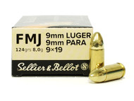 Surplus Ammo, Surplusammo.com 9mm 124 Grain FMJ Sellier & Bellot SB9B