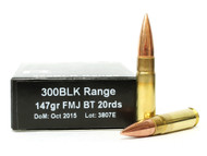 Surplus Ammo | Surplusammo.com 300 AAC Blackout 147 Grain FMJ-BT PNW Arms Range PN-300BLK-147-FMJBT