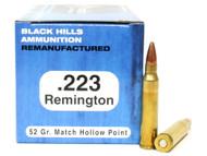 Surplus Ammo | Surplusammo.com .223 52 Grain Match HP Black Hills - 50 Rounds, Factory Reman BHD223R3