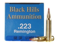 .223 60 Grain V-Max Black Hills - 50 Rounds, Factory Reman.