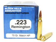 Surplus Ammo | Surplusammo.com .223 75 Grain Match HP Black Hills - 50 Rounds, Factory Reman BHM223R6