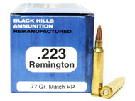 Surplus Ammo | Surplusammo.com .223 77 Grain Sierra Matchking HP Black Hills - 50 Rounds, Factory Reman BHD223R9