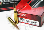 .308 Win 168 Grain Match HP-BT Black Hills -  20 Rounds, NEW