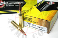 Surplus Ammo .308 Win 168 Grain A-Max Black Hills Gold