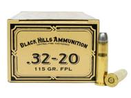 Surplus Ammo   Surplusammo.com 32-20 WCF 115 Grain Flat Point Lead Black Hills Cowboy Action - 50 Rounds, New BHDCB3220N1