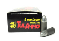 Surplus Ammo, Surplusammo.com 9mm 115 Grain FMJ TulAmmo Ammunition