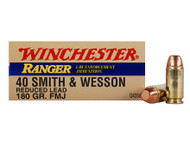 40 S&W 180 Grain Reduced Lead FMJ Winchester Ranger LE Q4356 - 50 Rounds