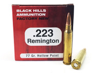 Surplusammo.com | Surplus Ammo .223 77 Grain Sierra Matchking HP Black Hills - 50 Rounds, NEW (BHD223N9
