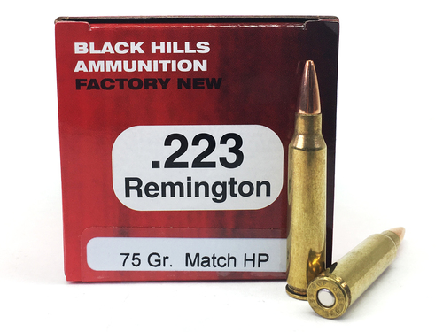 Surplus Ammo | Surplusammo.com .223 75 Grain Match HP Black Hills - 50 Rounds, NEW Red Box BHD223N6