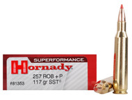 .257 Roberts 117 Grain +P SST Hornady SUPERFORMANCE - 20 Rounds