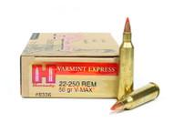 Surplus Ammo .22-250 Rem 50 Grain V-Max Hornady Varmint Express