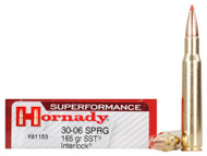 Surplus Ammo .30-06 Springfield 165 Grain SST InterLock Hornady SUPERFORMANCE