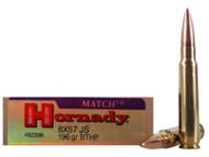 8x57mm JS Mauser 196 Grain BTHP Hornady Vintage Match - 20 Rounds