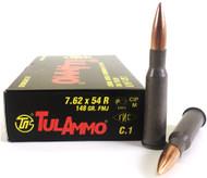 SurplusAmmo.com 7.62x54R 148 Grain FMJ TulAmmo - 20 Rounds (TA762548