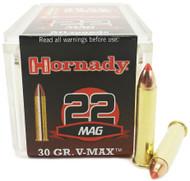 22 Magnum Hornady Varmint Express 30 Grain V-Max - 50 Rounds HO83202