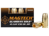 Surplus Ammo 45 GAP 230 Grain JHP Magtech Guardian Gold Glock Automatic Pistol Ammunition Jacketed Hollow Point