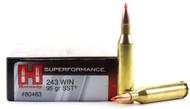 Surplus Ammo .243 Win 95 Grain SST Hornady SUPERFORMANCE