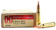 Surplus Ammo 6.8 SPC 110 Grain V-Max Hornady Match