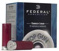 """12 Gauge Federal Top Gun Target 2 3/4"""" 1 oz. #7.5 Shot - 250 Rounds"""