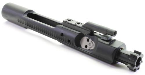 Surplusammo.com | Surplus Ammo SAA Skull Face M16 Complete Bolt Carrier Group (BCG) MPI Tested - .223/5.56 SAA-SKL-BCG-556