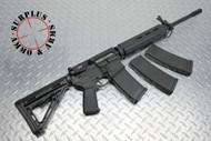 "Surplusammo.com   Surplus Ammo SAA Carbine Match 1:8 SS 18"" BHW Mid-Length YHM Flip Up Sight AR-15 Rifle  5.56 New, Nickel Boron Carrier, 3 Magpul MOE Mags, & Blackhawk Soft Case SAA-15-DRG-NB-MID-BHW18"