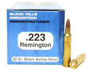 Surplus Ammo | Surplusammo.com .223 52 Grain Match HP Black Hills - 50 Rounds, Factory Reman BHD223R3