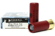 "Surplus Ammo | Surplusammo.com 12 Gauge Federal Power-Shok 2 3/4"" Maximum Rifled Slug HP 1oz F127 RS"