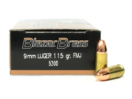 Surplus Ammo | Surplusammo.com 9mm 115 Grain Full Metal Jacket CCI Blazer Brass Ammunition 5200