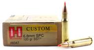 Surplus Ammo 6.8mm SPC 120 Grain SST Hornady Custom Rifle Ammunition HO8347