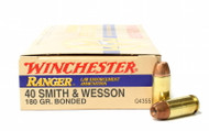 Surplus Ammo, Surplusammo.com 40 S&W 180 Grain Bonded HP Winchester Ranger LE (new 2013 production)