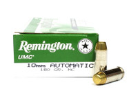 10mm Auto 180 Grain MC Remington UMC - 50 Rounds RML10MM6 / 23706