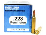 Surplus Ammo | Surplusammo.com .223 55 Grain SP Black Hills - 50 Rounds, Remanufactured BHD223R2