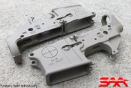Surplusammo.com SAA SA-15 Reticle Logo AR15 Cerakote  Stripped Lower Receiver - FDE Brown/Desert