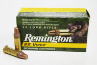 Remington Viper .22LR Rimfire Ammunition Truncated Cone Solid Ammo 22 Long Rifle Surplus Ammo