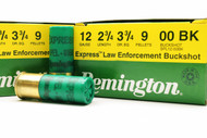 "Surplusammo.com 12 Gauge Remington Express Law Enforcement  Buckshot #00 Buck, 9 Pellet 2 3/4"" (RMSPL12BK)"